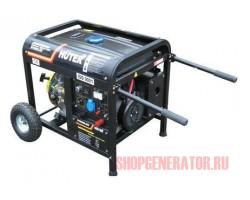 Бензиновый генератор Huter DY6500LXW, с функцией сварки, с колёсами