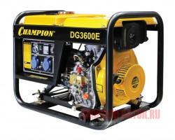 Дизельный генератор CHAMPION DG3600E (DG3601E)